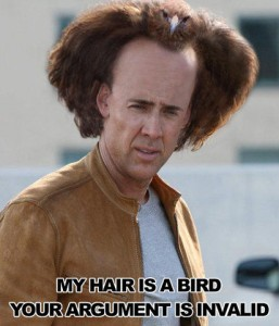 My Hair Is A Bird Your Argument Is Invalid