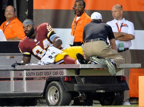 "I just noticed this, but even though he's really injured, Niles Paul seems like he's looking at my ""Amen"" right there in total agreement. Actually, probably not. I'm probably just drunk."