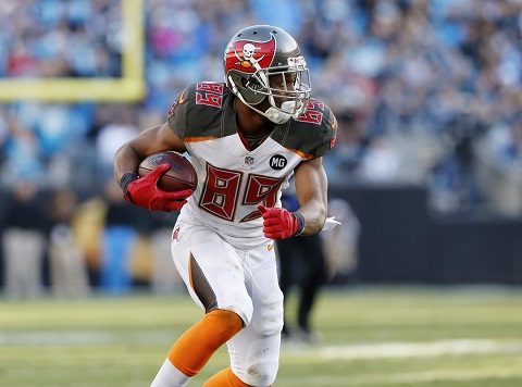 CHARLOTTE, NC - DECEMBER 14: Wide Receiver Russell Shepard #89 of the Tampa Bay Buccaneers during the game against the Carolina Panthers at Bank of America Stadium on December 14, 2014, in Charlotte, North Carolina. The Buccaneers lost 19-17. (photo by Matt May/Tampa Bay Buccaneers)
